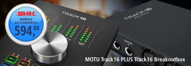 Aktionsbundle: MOTU Track16 und Track16 Breakoutbox